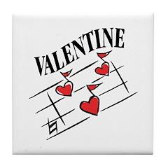 Valentine Love Notes Tile Coaster
