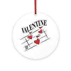 Valentine Love Notes Ornament (Round)