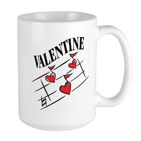 Valentine Love Notes Large Mug