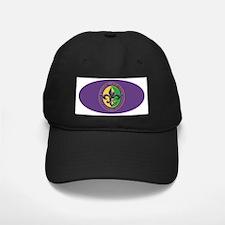 Mardi Gras Beaded Fleur Baseball Hat
