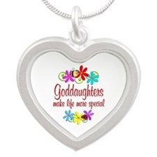 Special Goddaughter Silver Heart Necklace
