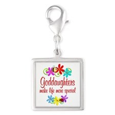 Special Goddaughter Silver Square Charm
