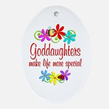 Special Goddaughter Ornament (Oval)