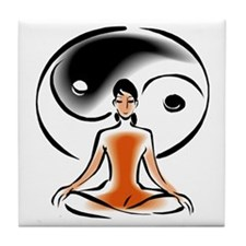 Yoga Ying Yang Tile Coaster