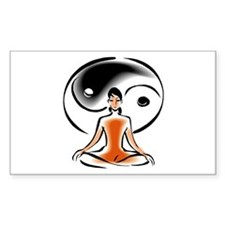 Yoga Ying Yang Rectangle Decal