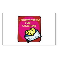 Valentine Sweet Dream Rectangle Sticker