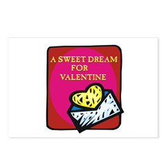 Valentine Sweet Dream Postcards (Package of 8)