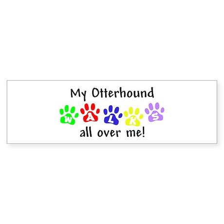 Otterhound Walks Bumper Sticker