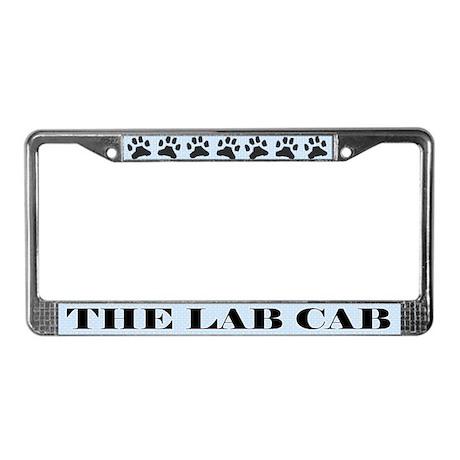 Lab Cab License Plate Frame