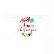 Special Aunt Aluminum License Plate