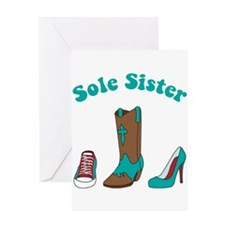 Sole Sister Greeting Cards