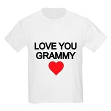 LOVE YOU GRAMMY WITH RED HEART T-Shirt