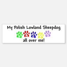 Polish Lowland Sheepdog Walks Bumper Bumper Bumper Sticker