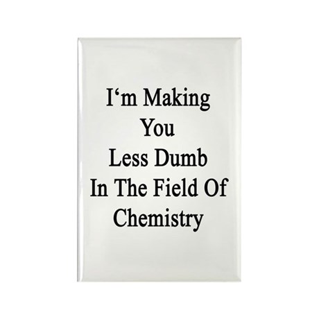 I'm Making You Less Dumb In The F Rectangle Magnet