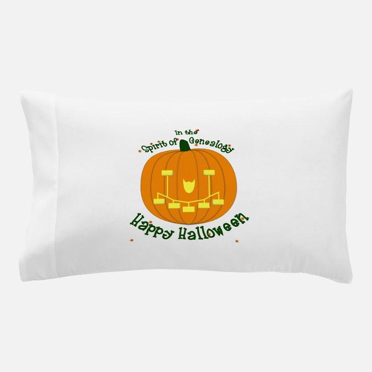 Genealogy Halloween Pumpkin Pillow Case