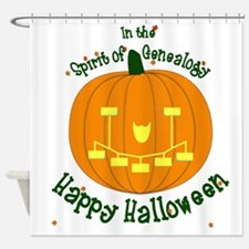 Genealogy Halloween Pumpkin Shower Curtain