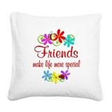 Best friend Square Canvas Pillows