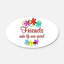 Special Friend Oval Car Magnet