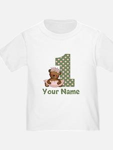 1st Birthday Princess Bear T-Shirt