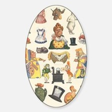 Vintage Alice in Wonderland Sticker (Oval)