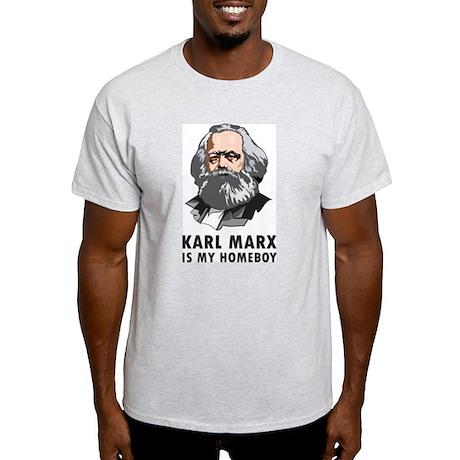 Karl Marx Is My Homeboy Ash Grey T-Shirt
