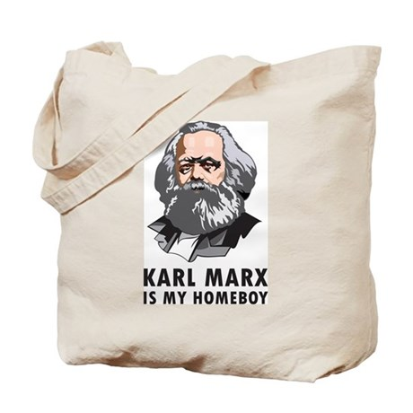 Karl Marx Is My Homeboy Tote Bag