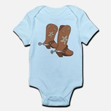 Cowboy Boot And Spurs Body Suit