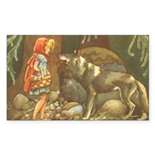 Vintage Little Red Riding Hood Decal