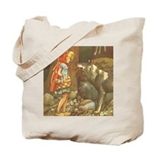 Vintage Little Red Riding Hood Tote Bag