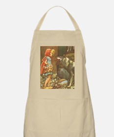 Vintage Little Red Riding Hood Apron