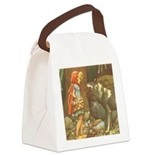 Vintage Little Red Riding Hood Canvas Lunch Bag