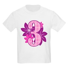 Birthday Flower Three T-Shirt