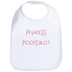 Princess Poopsalot Bib