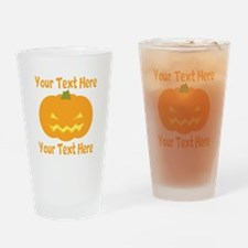 CUSTOM TEXT Jack O Lantern Drinking Glass