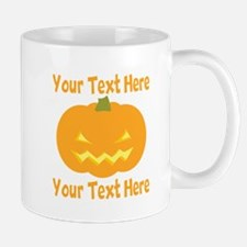 CUSTOM TEXT Jack O Lantern Mugs