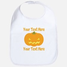 CUSTOM TEXT Jack O Lantern Bib