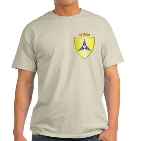 DUI - III Corps with Text Light T-Shirt