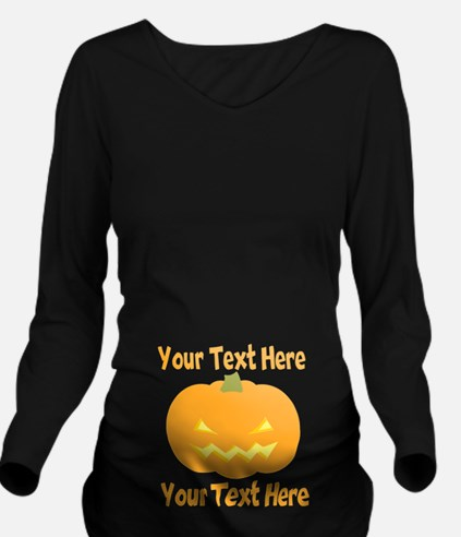 Jack-o-Lantern Pumpkin Belly Long Sleeve Maternity