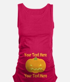 Jack-o-Lantern Pumpkin Belly Maternity Tank Top