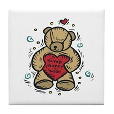 To My Honey Bear Tile Coaster