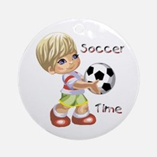 Soccer Time Ornament (Round)
