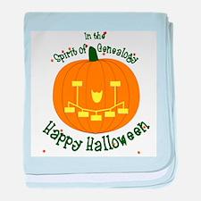 Genealogy Halloween Pumpkin baby blanket