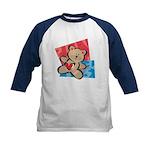 Love Bear with Heart Kids Baseball Jersey