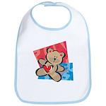 Love Bear with Heart Bib