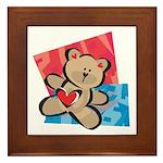 Love Bear with Heart Framed Tile