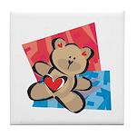 Love Bear with Heart Tile Coaster