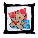 Love Bear with Heart Throw Pillow