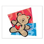 Love Bear with Heart Small Poster