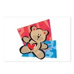 Love Bear with Heart Postcards (Package of 8)