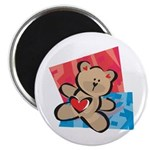 Love Bear with Heart Magnet
